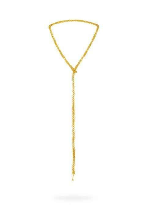001 cadena tejido abierto oro