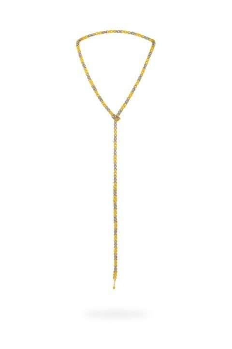 003 cadena tejido abierto oro platino