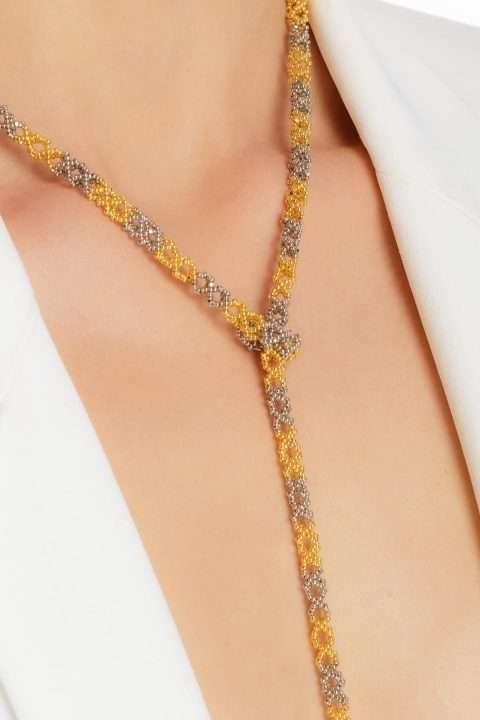 003 cadena tejido abierto oro platino alt2