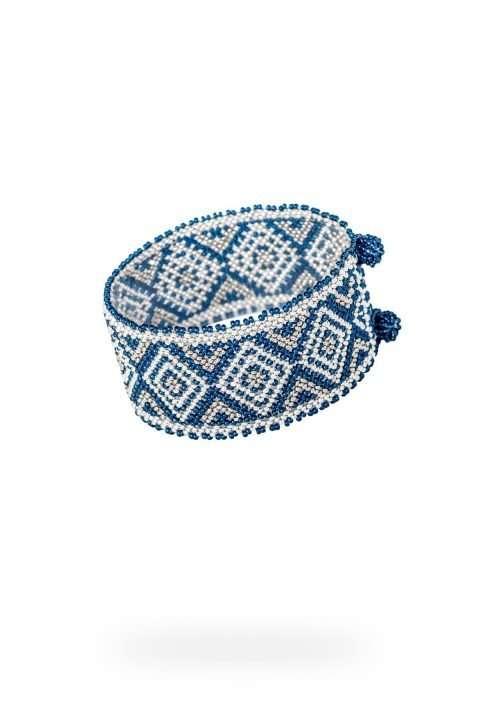 004 brazaletes mediano plata platino azul