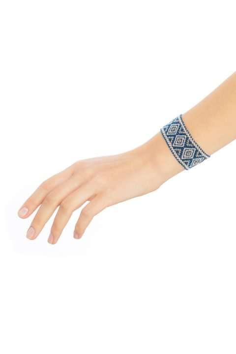 004 brazaletes mediano plata platino azul alt1