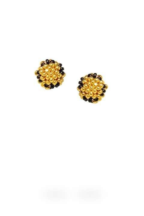 005 aretes kuu ichipe oro cristal negro