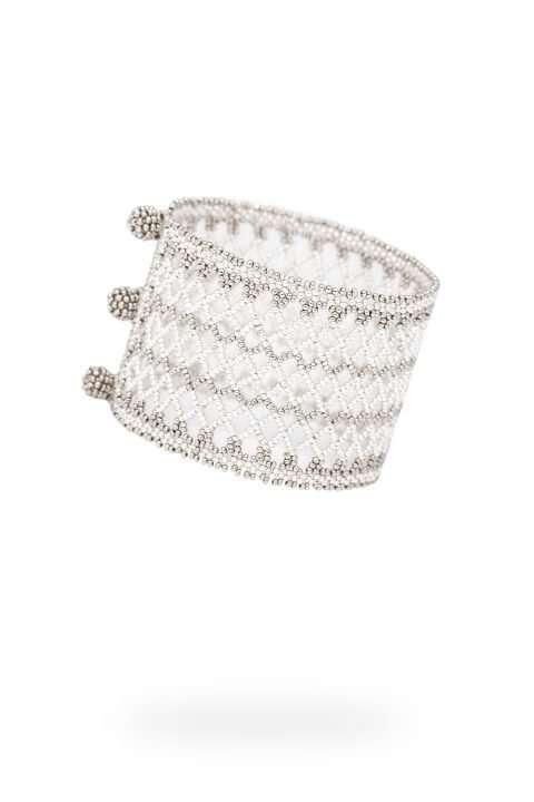 005 brazalete tejido abierto plata platino