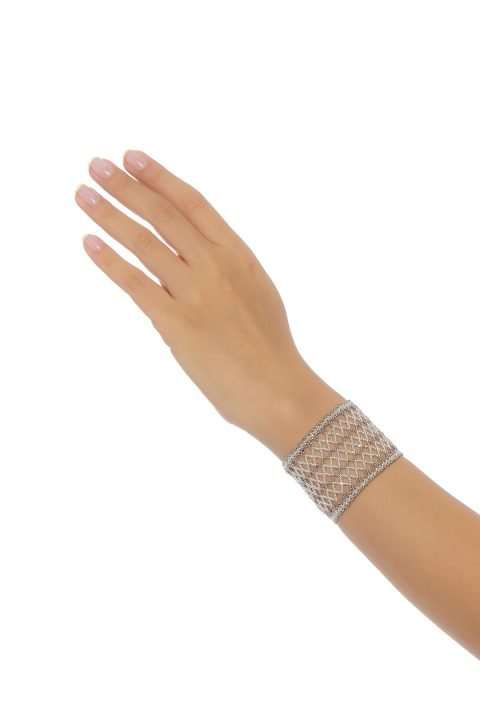 005 brazalete tejido abierto plata platino alt1