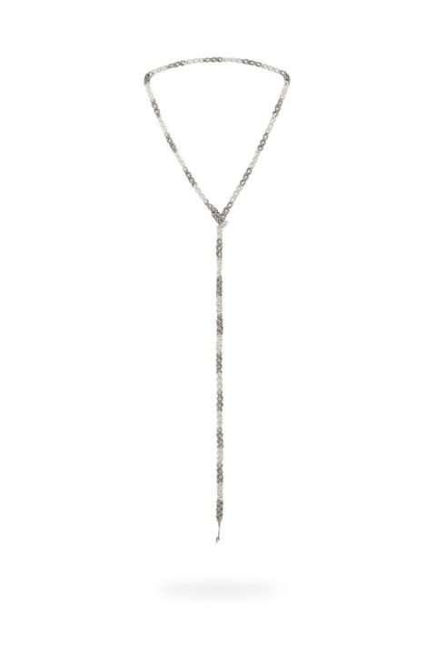 005 cadena tejido abierto plata platino