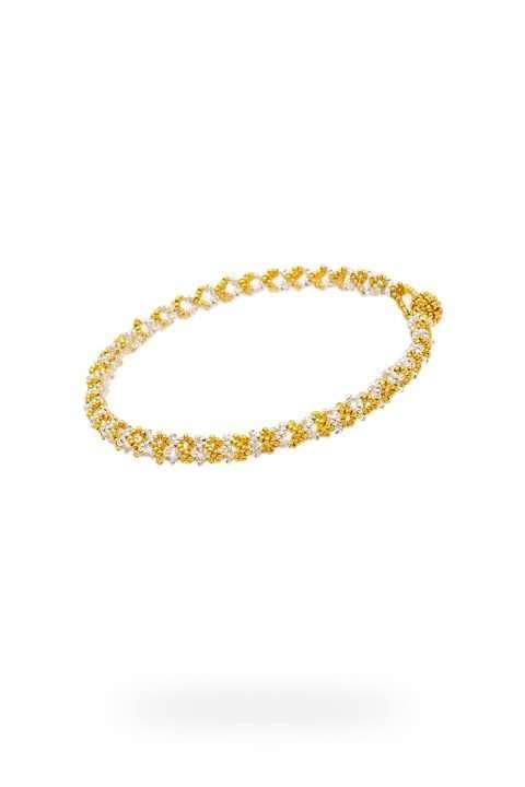 005 mini brazalete cadena oro plata