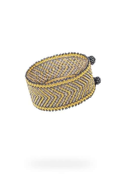 007 brazaletes mediano oro platino gris