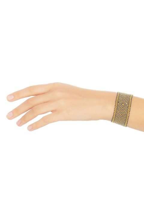 007 brazaletes mediano oro platino gris alt1