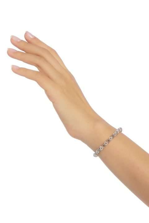 007 mini brazalete cadena plata platino alt1