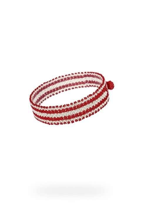 007 mini brazaletes plata rojo