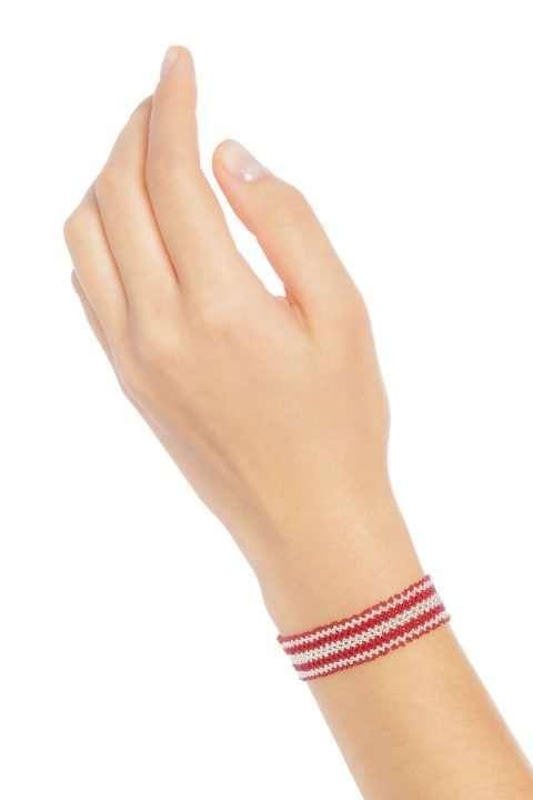 007 mini brazaletes plata rojo alt1