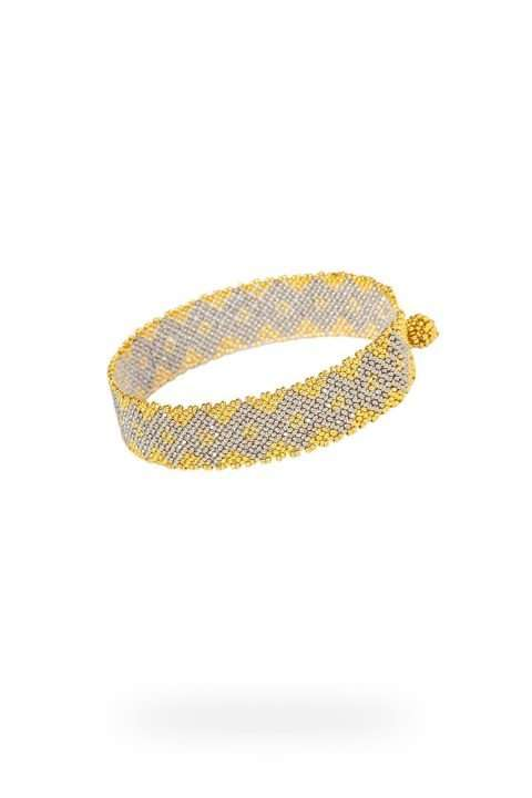009 mini brazaletes oro platino
