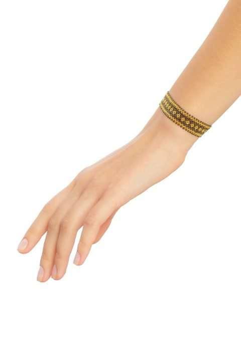 010 mini brazaletes oro verde militar alt1
