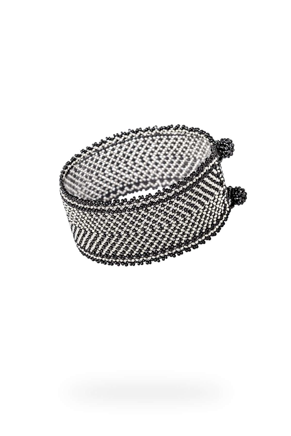 012 brazaletes mediano plata negro