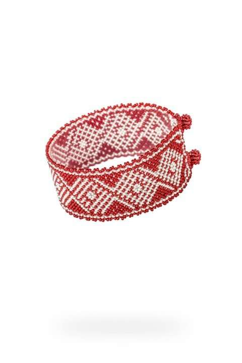 015 brazaletes mediano plata rojo