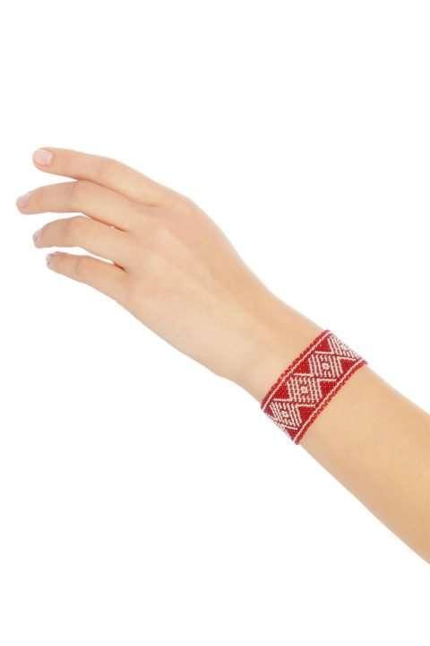 015 brazaletes mediano plata rojo alt1