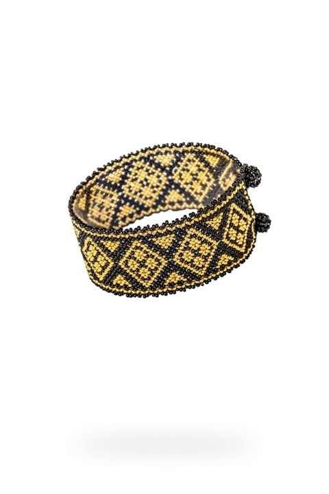 016 brazaletes mediano oro negro