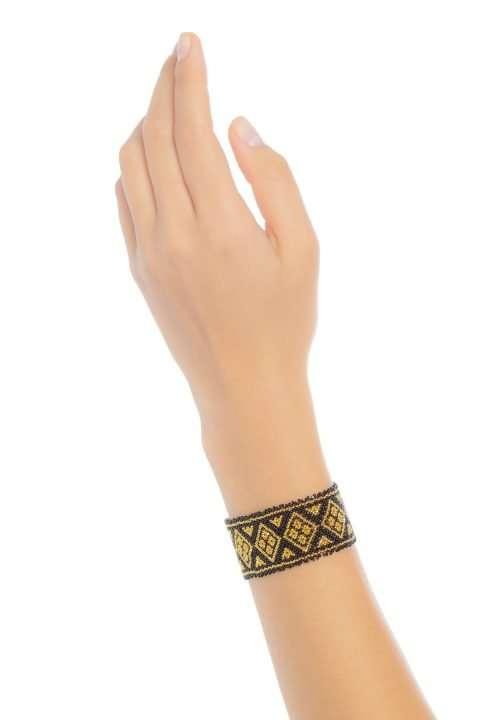 016 brazaletes mediano oro negro alt1