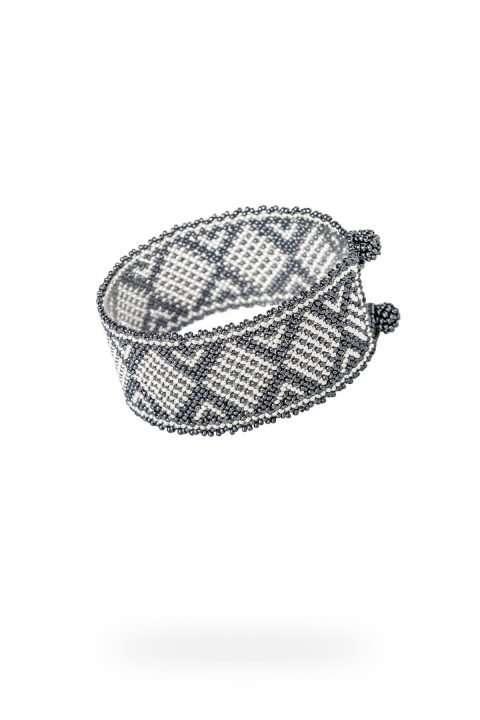 017 brazaletes mediano plata gris
