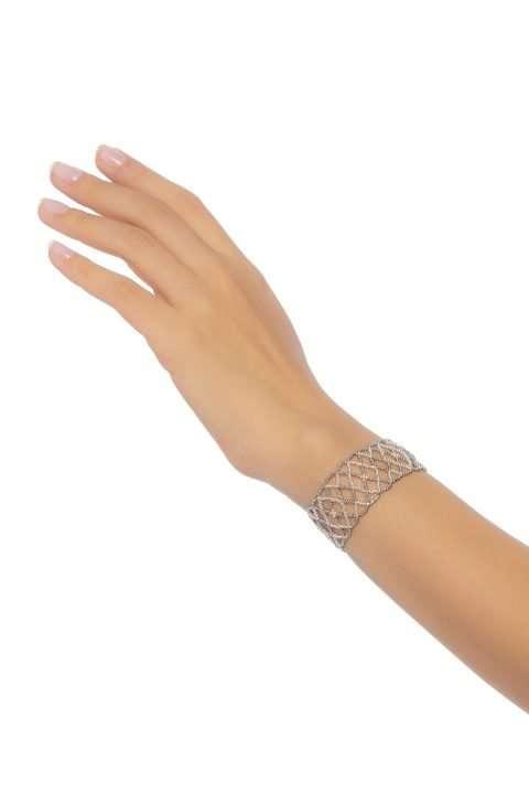 013 brazalete mediano tejido abierto sin borde plata platino alt1