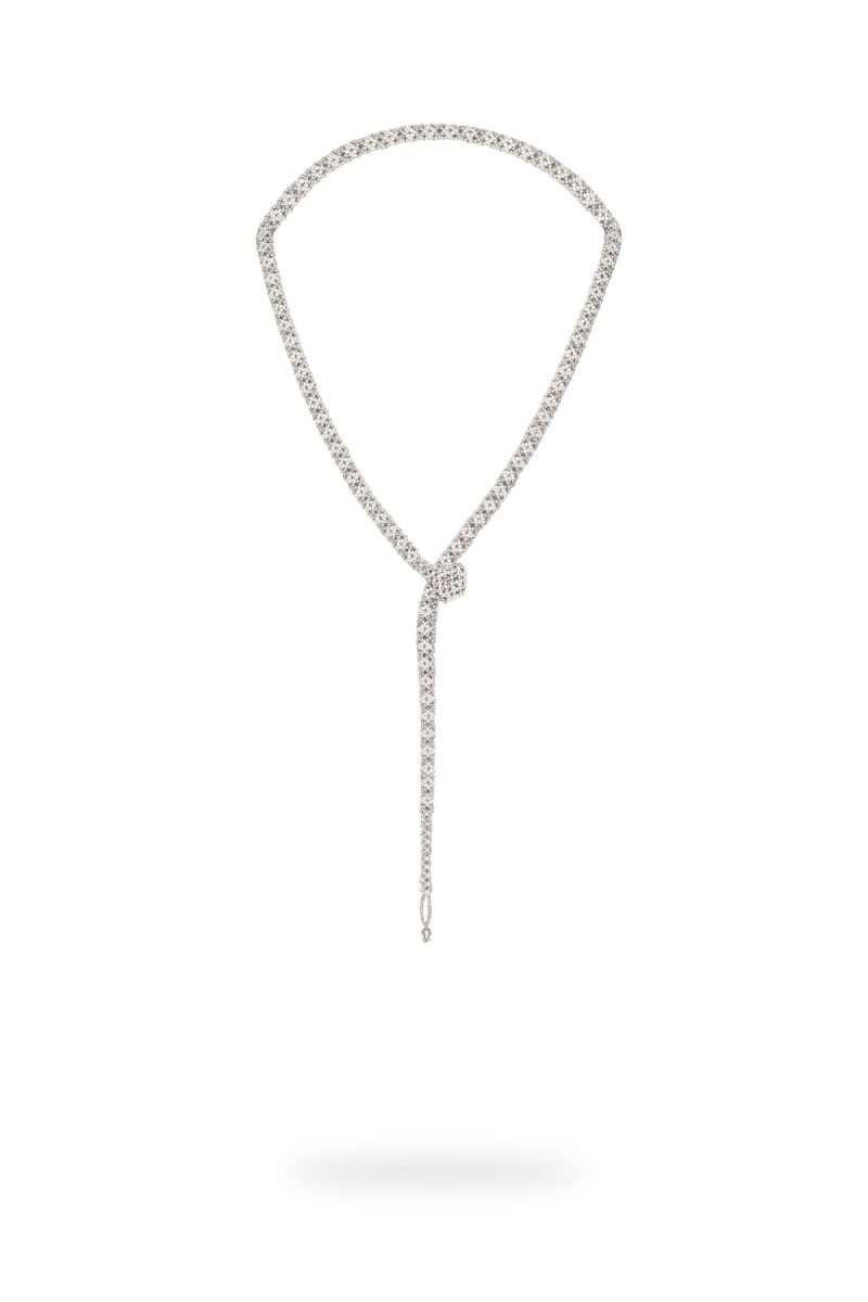SER001 collar serpiente plata platino