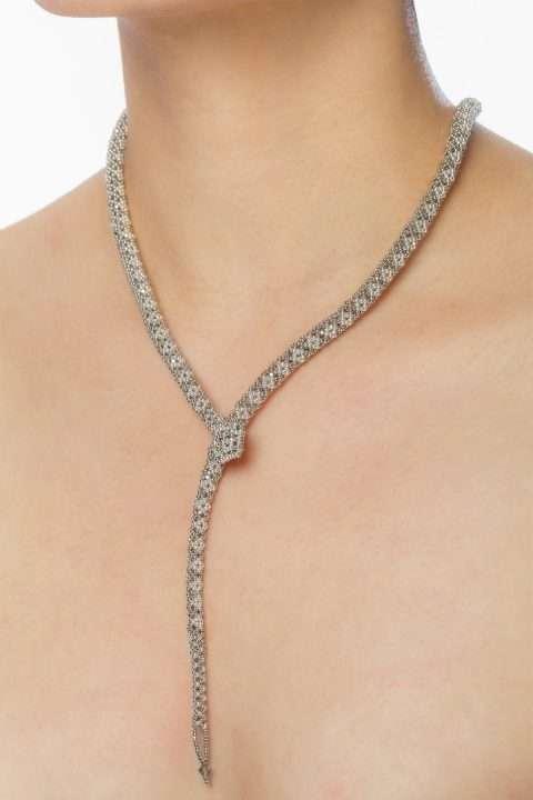 SER001 collar serpiente plata platino alt1