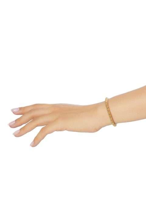 SER006 mini brazalete serpiente oro platino alt1