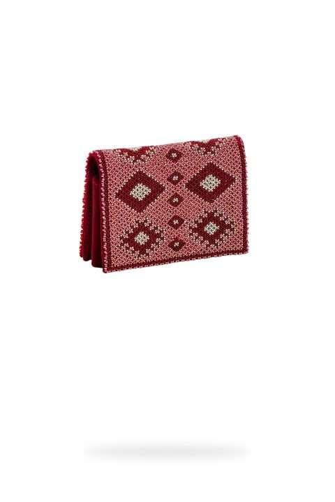 004 monedero rojo rosa platino