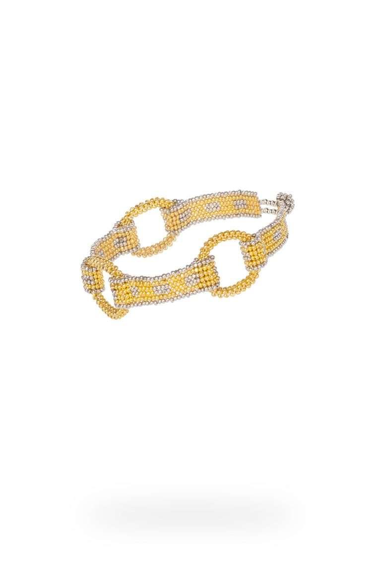 15 brazalete cadena aros