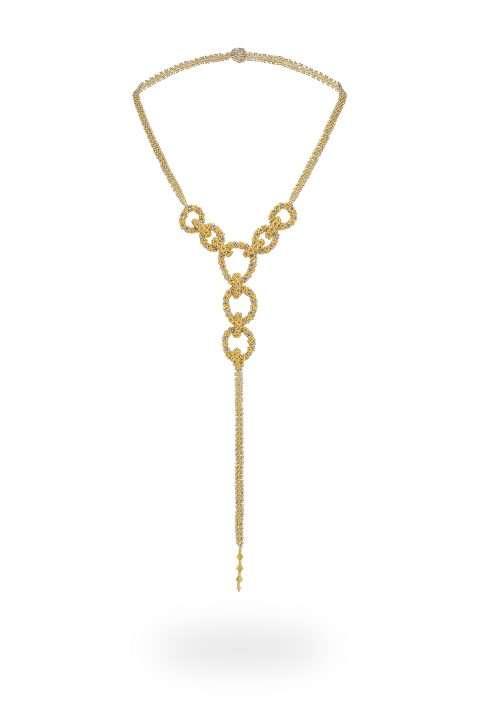 15 collar cadena aros