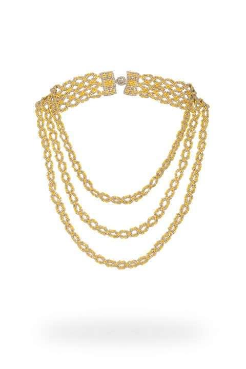 11 collar cadena triple