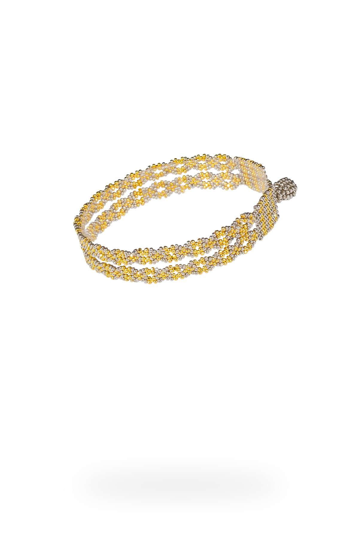 19 brazalete cadena doble oro