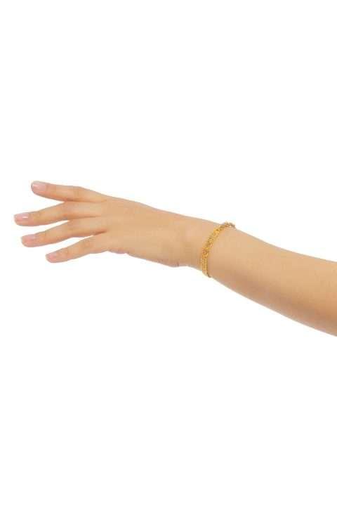 TLB001 brazalete lineal oro platino alt1