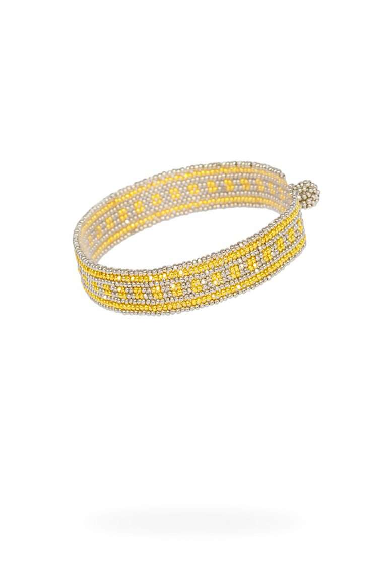TLB011 brazalete lineal oro platino