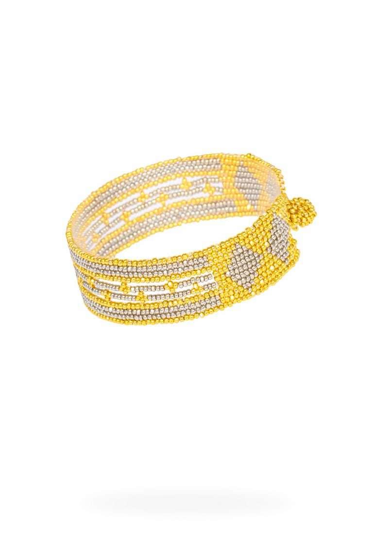 TLB013 brazalete lineal oro platino
