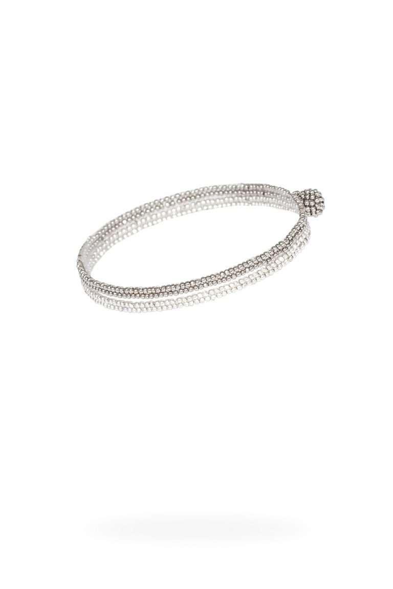 TLB015 brazalete lineal oro platino