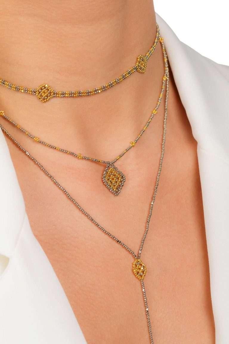 TLC007 collar lineal oro platino alt2