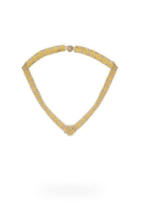 TLG001 collar lineal oro platino