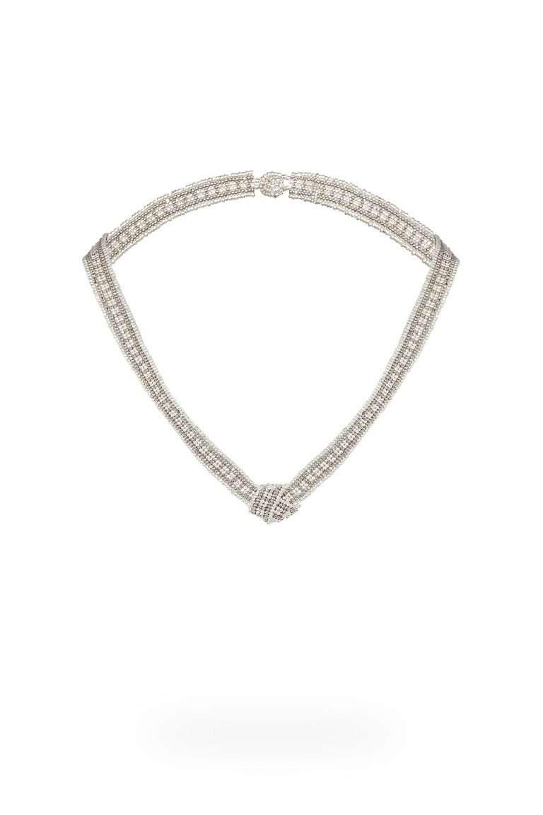 TLG002 collar lineal plata platino