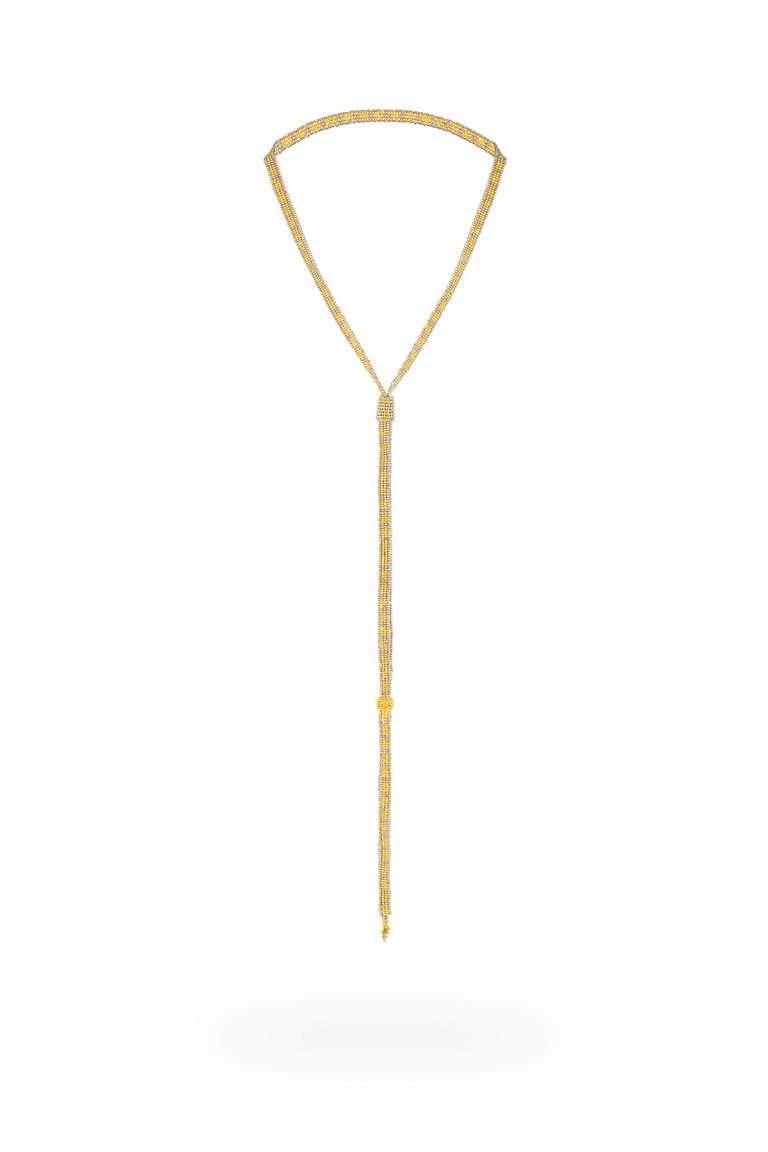 TLG003 collar lineal oro platino
