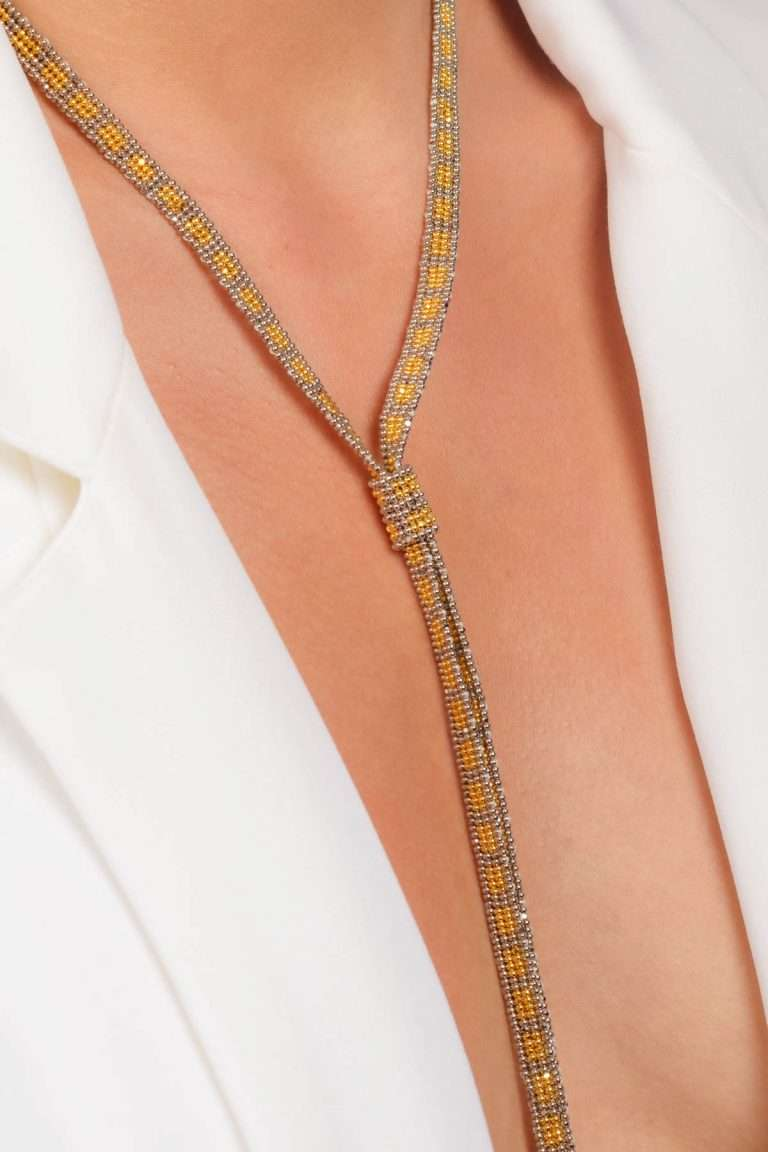 TLG003 collar lineal oro platino alt2